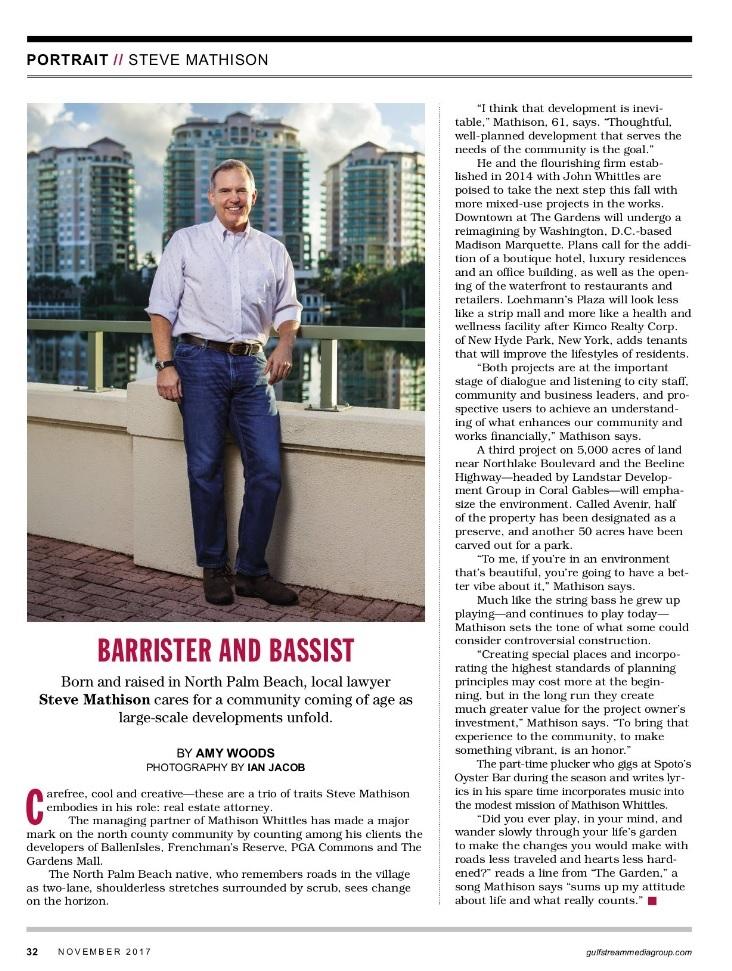 Jupiter Magazine November 2017 Profile on Steve (1)